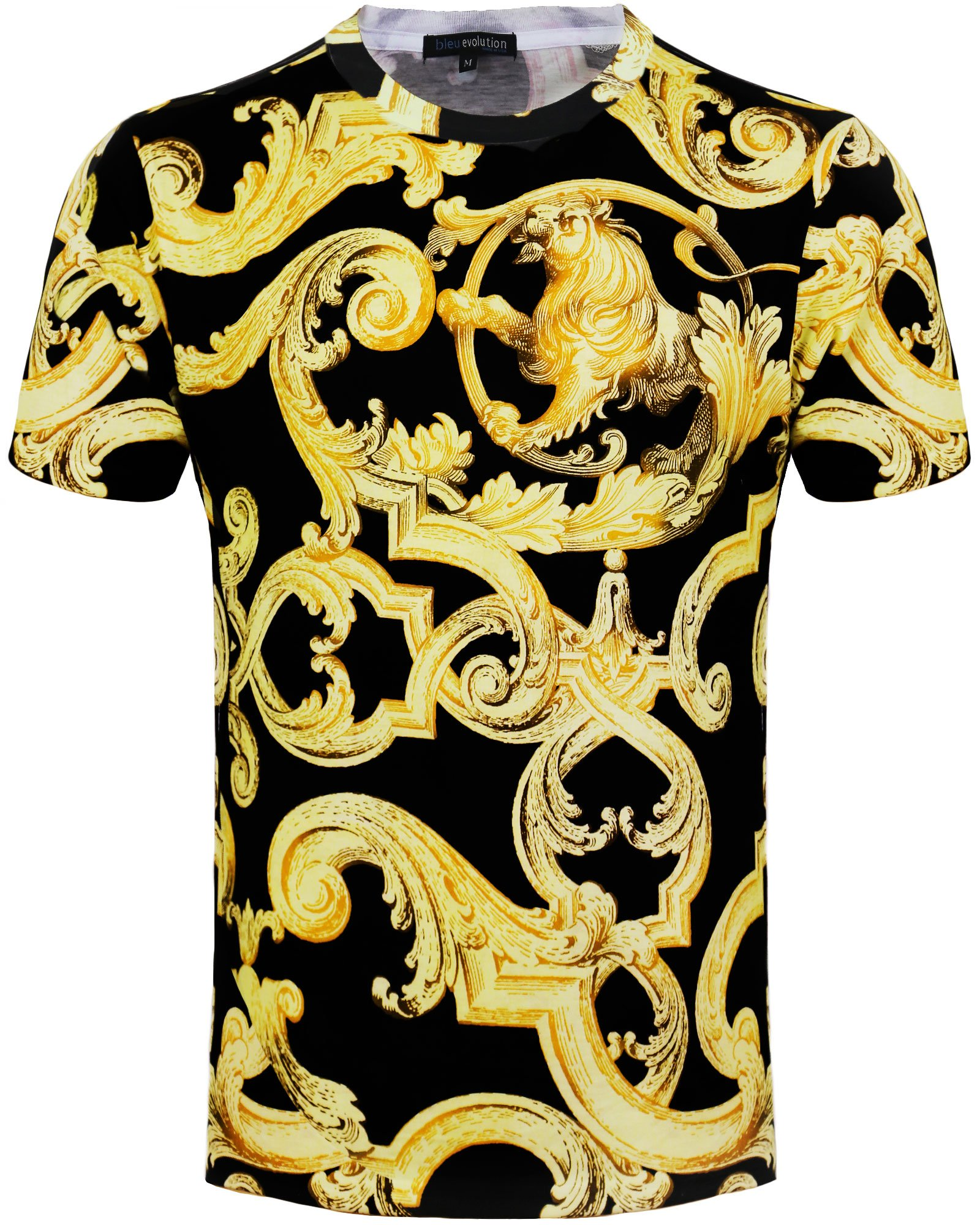 """Bleu Evolution Men's Sublimation T-Shirt """"Golden Lion"""""""