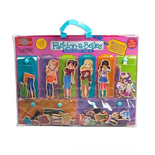 T.S. Shure Fashion-A-Belles Minis Wooden Magnetic Dress-Up Dolls