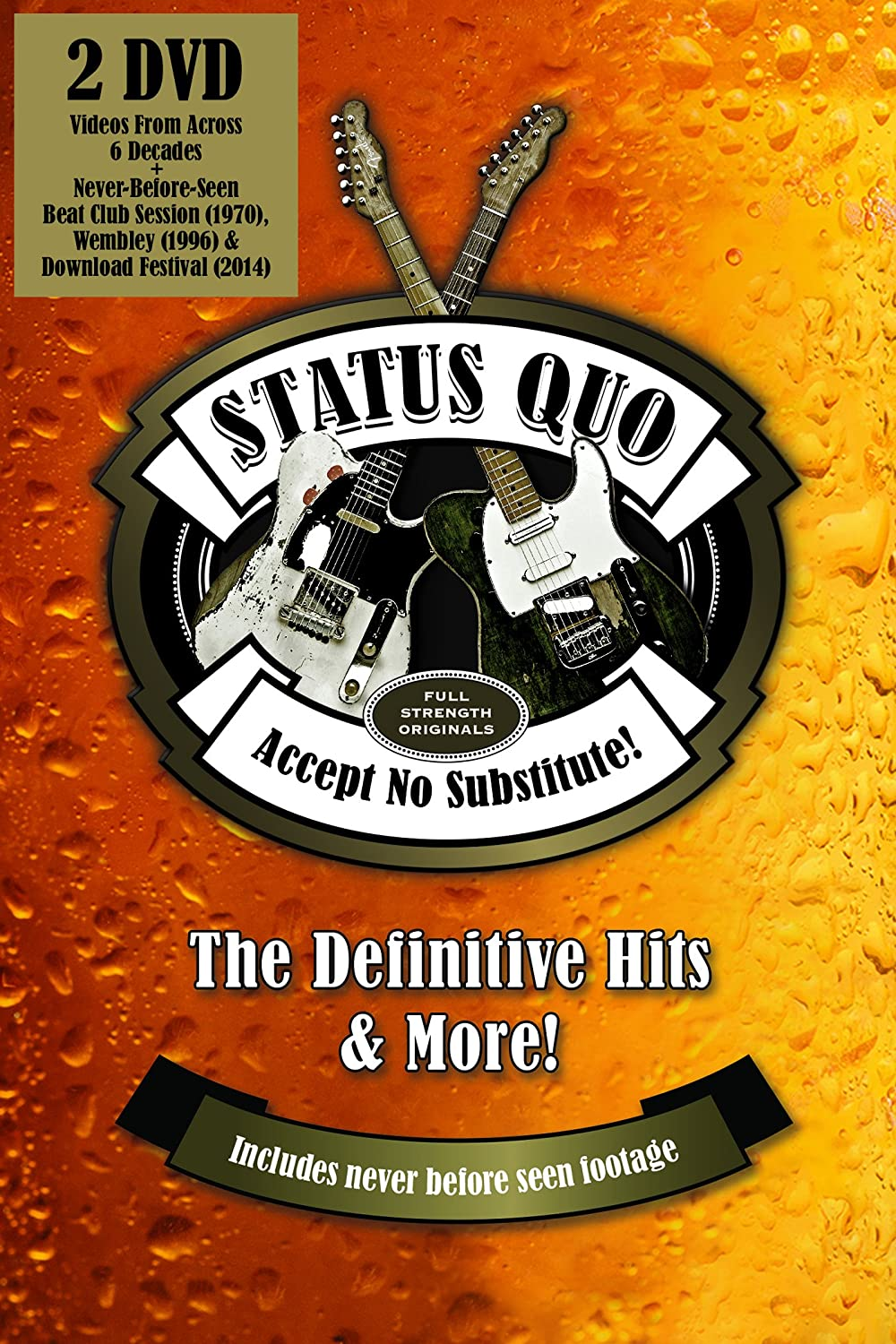 STATUS QUO Accept No Substitute: The Definitive Hits & More DVD