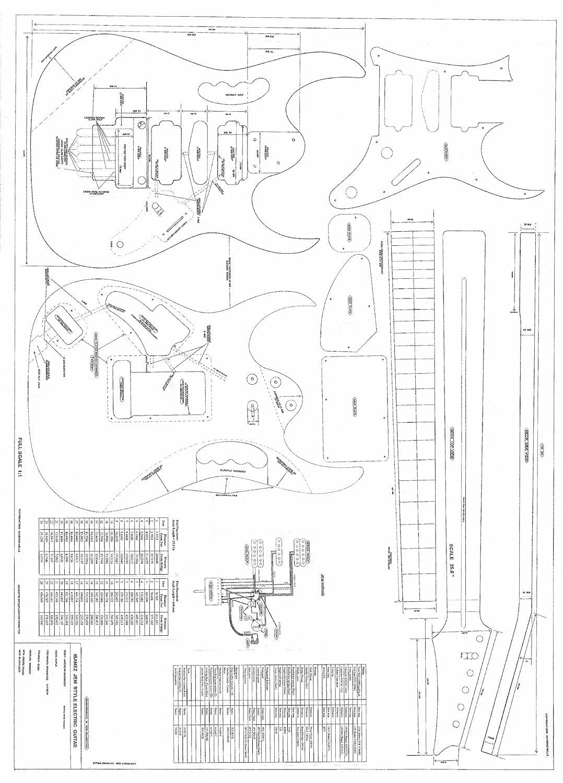 Printable Guitar Template