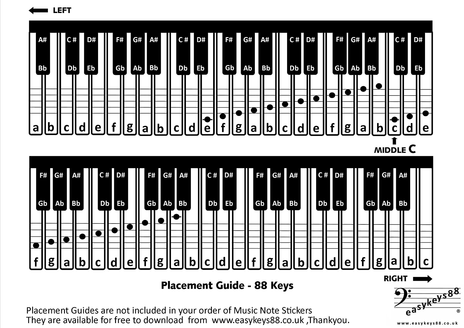notes on piano keyboard diagram 1966 ct90 wiring the gallery for gt layout 61 keys
