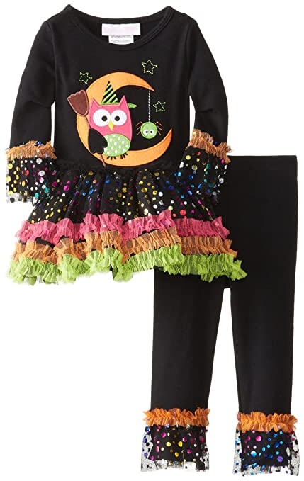 Bonnie Baby-Girls Infant Owl Appliqued Tutu Legging Set