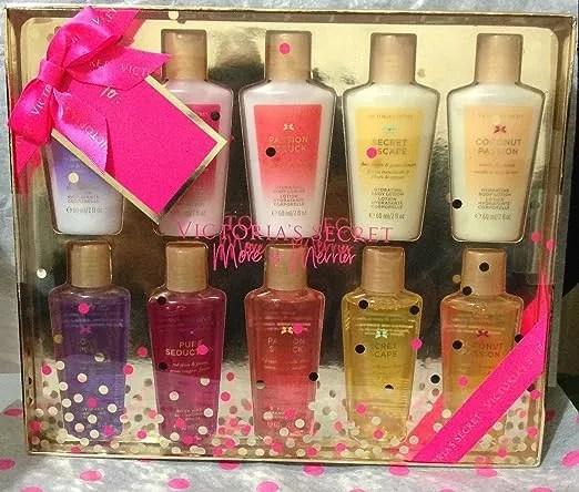 Victoria's Secret 10 Piece Lotion & Body Wash Set Pure Seduction, Love Spell, Passion Struck & More