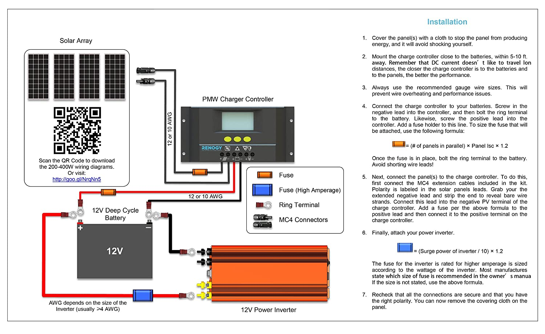 simple electrical wiring diagrams images airbag suspension valve diagram cheap rv living.com -installing a renogy 200 watt solar kit
