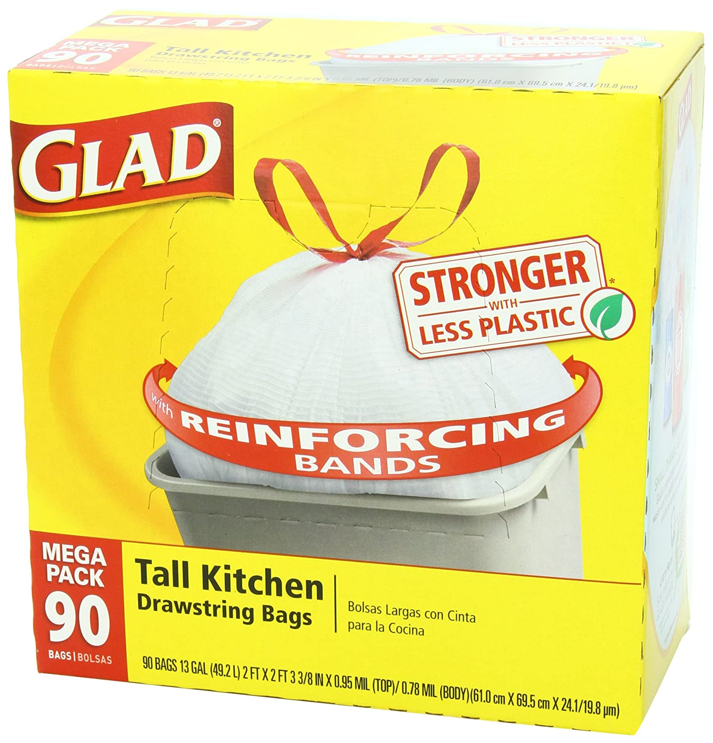 glad tall kitchen drawstring trash bags outdoor summer ideas new 13 gallon 90
