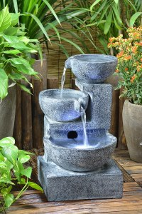 solar powered backyard fountains