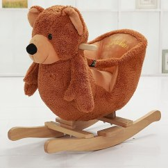 Plush Animal Rocking Chairs Round Table With 4 Danybaby Ride On Teddy Bear