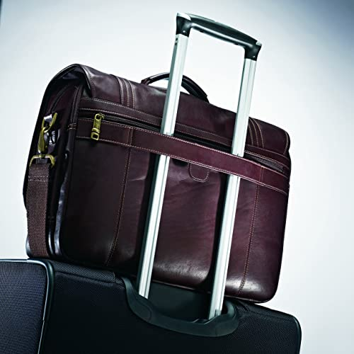 Samsonite Colombian Leather Flapover Briefcase review