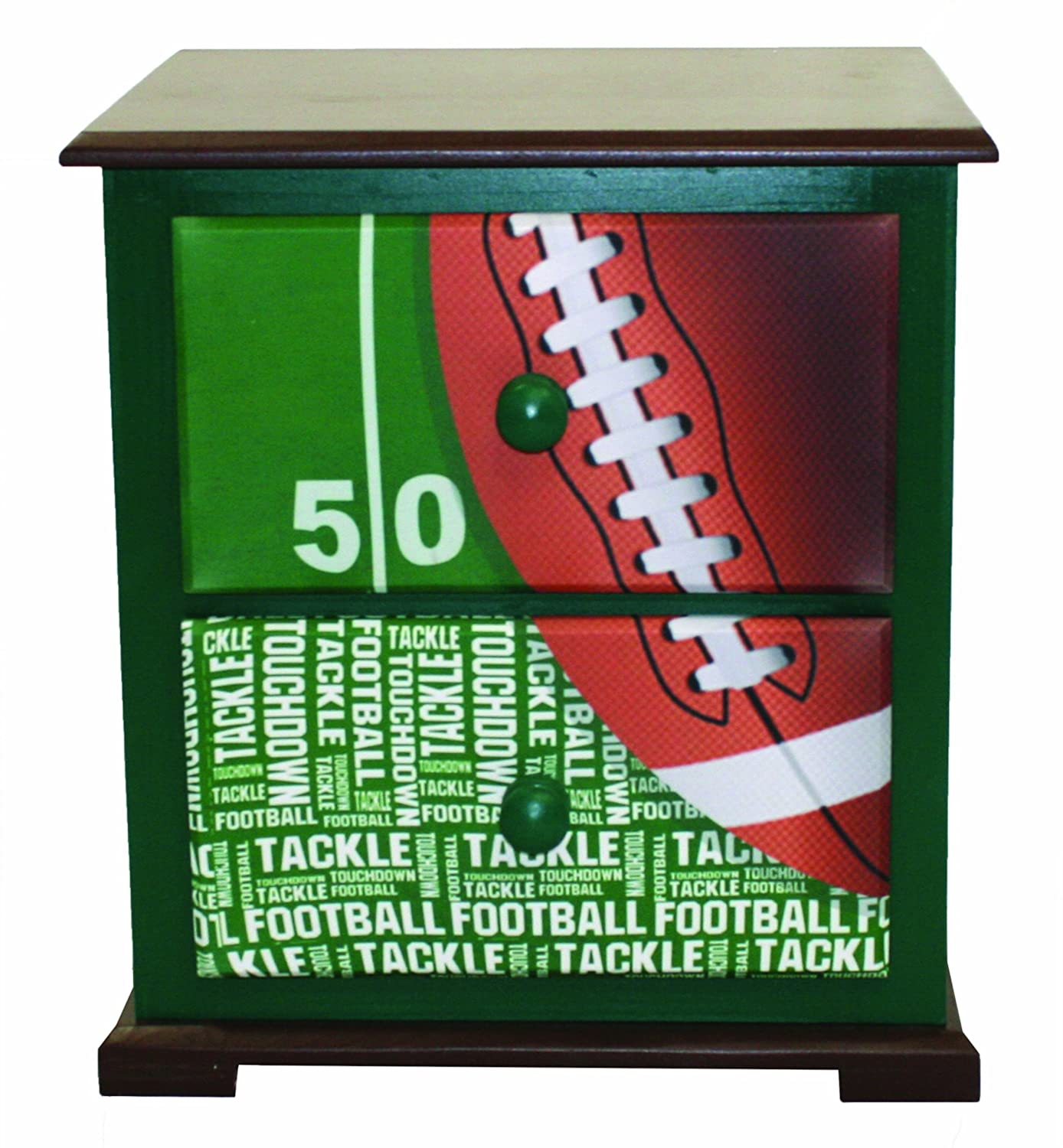 Newco Kids Football 50 Yard Line Nightstand