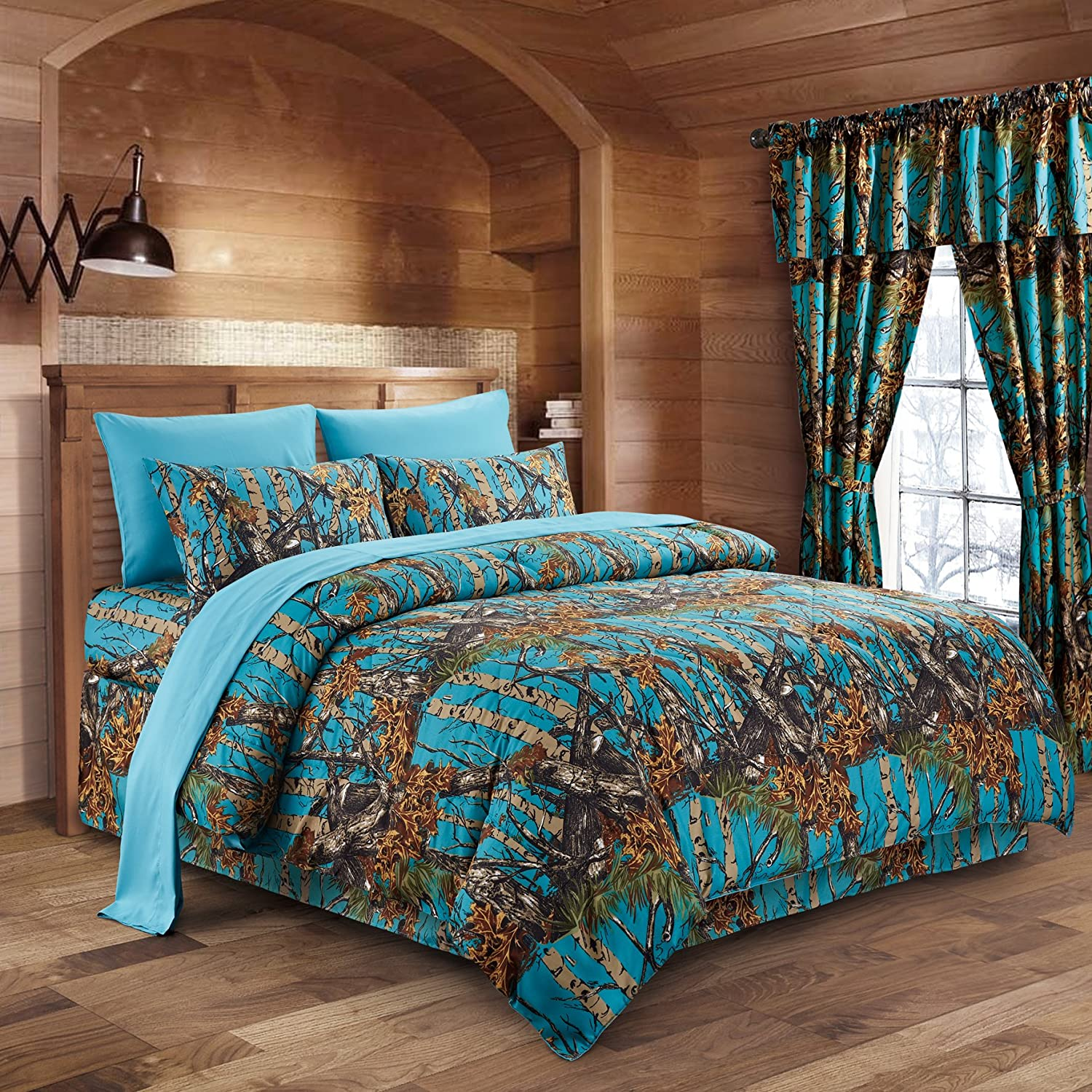 Cal King Sea Breeze Camo Comforter Spread Only Camouflage