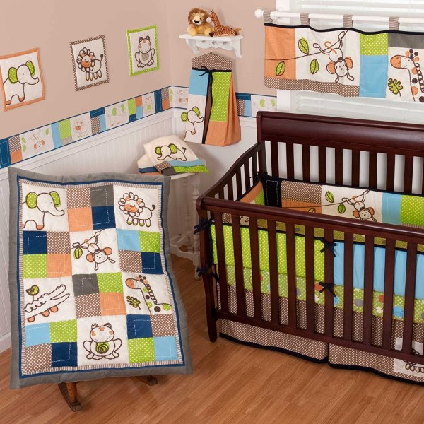 Sumersault Animal Patch Crib Bedding Collection - Baby And Accessories
