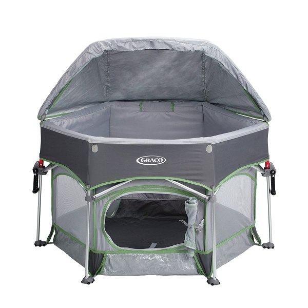 Outdoor Portable Baby Play Yard Station Playpen Canopy Uv
