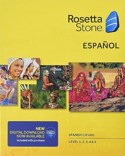 Learn Spanish Rosetta Stone Spain - Level 1-5 Set 0794678308048 And Used