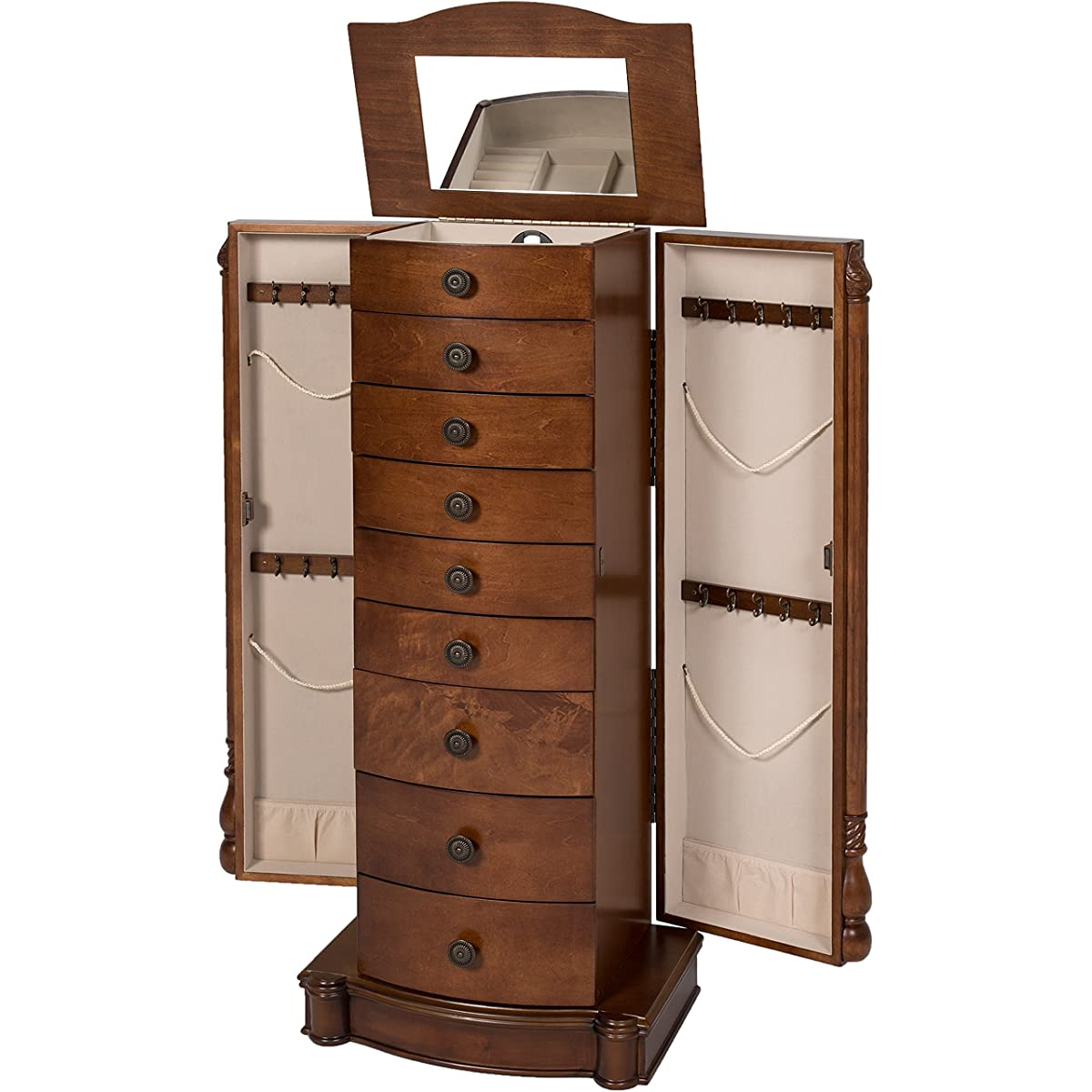 Best Choice Products Armoire Jewelry Cabinet Box Storage