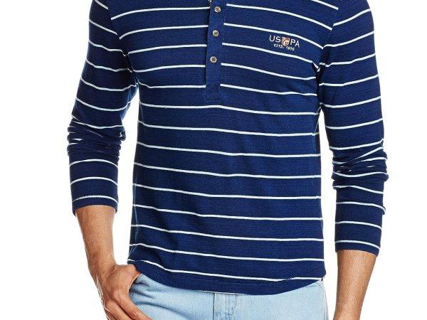 U.S.Polo.Assn. Men's Henley Neck T-Shirt