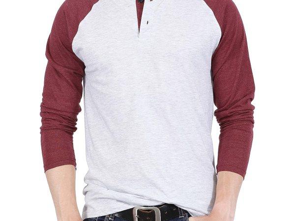 Fanideaz Mens Cotton Premium Full Sleeve Raglan Henley
