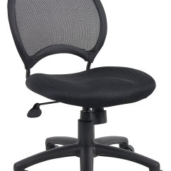 Task Chair Without Arms Bedroom Accent Boss B6215 Mesh Chairs Find Sale