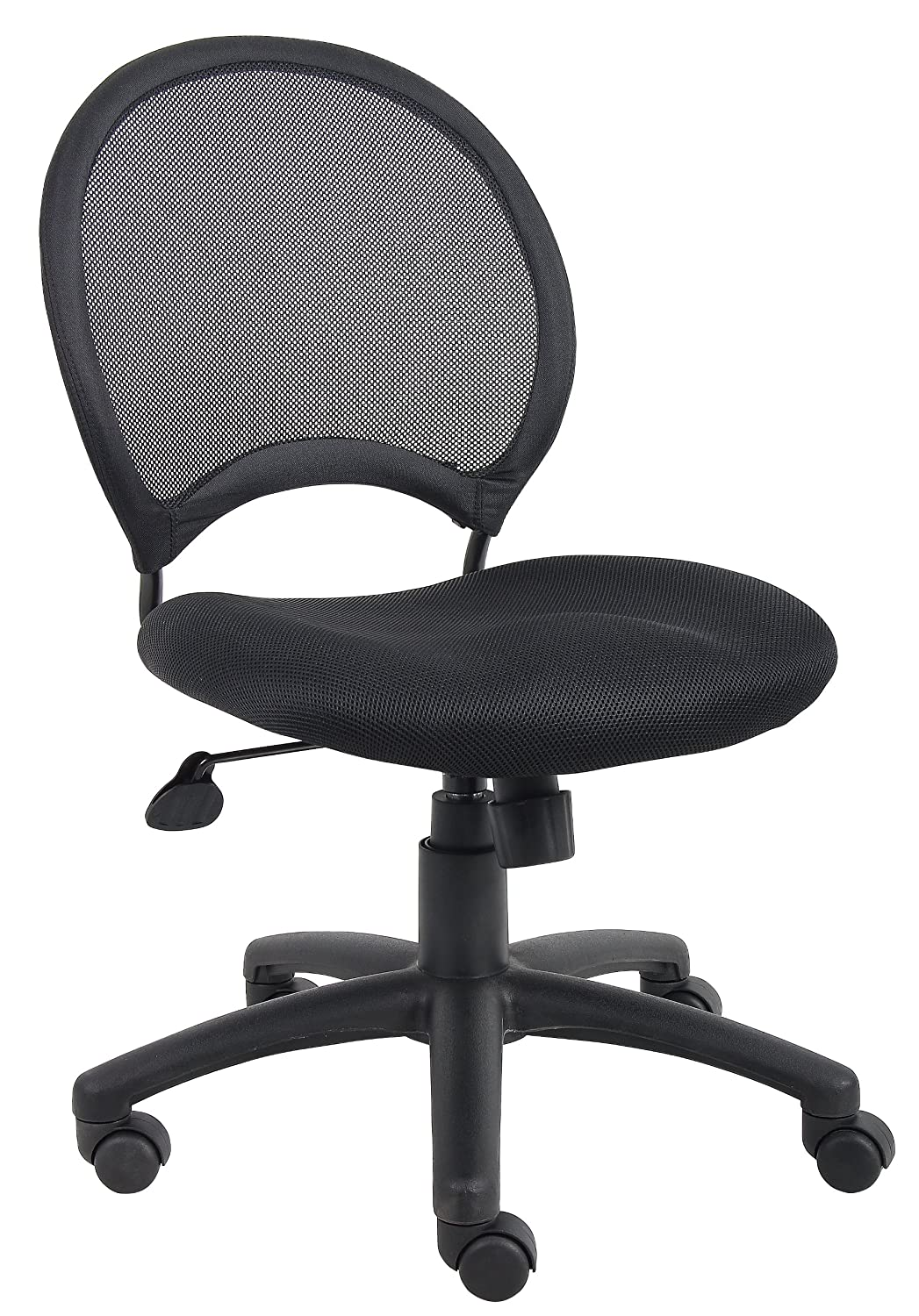 ergonomic chair without arms office mat boss b6215 mesh task chairs find sale