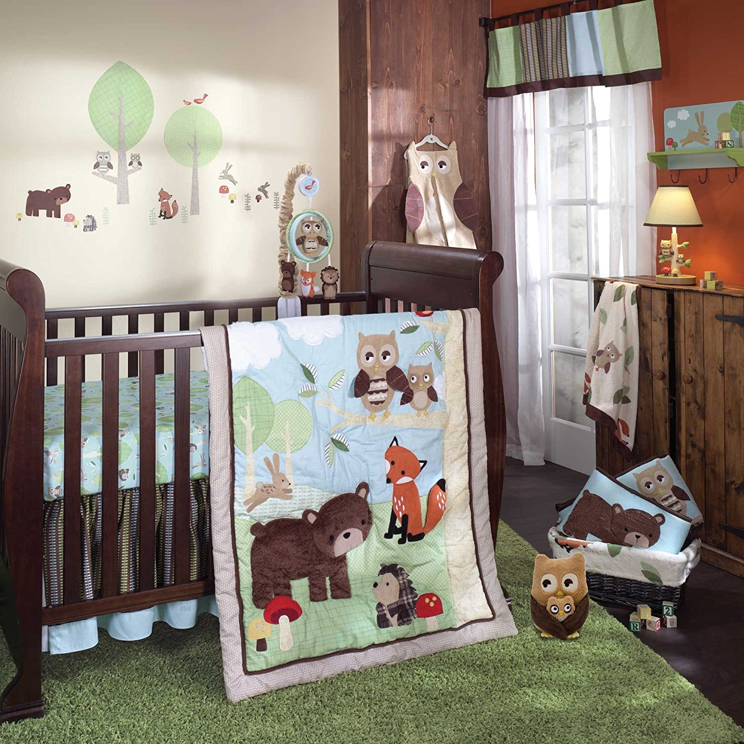Kinderzimmer Teppich Neutral Lambs And Ivy Echo Crib Bedding Collection Seekyt
