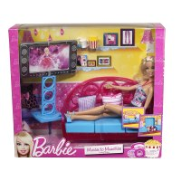 Barbie Living Room Furniture and Doll Blonde New & Sealed ...