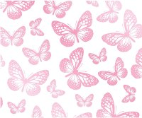 Pink And White Butterfly Background