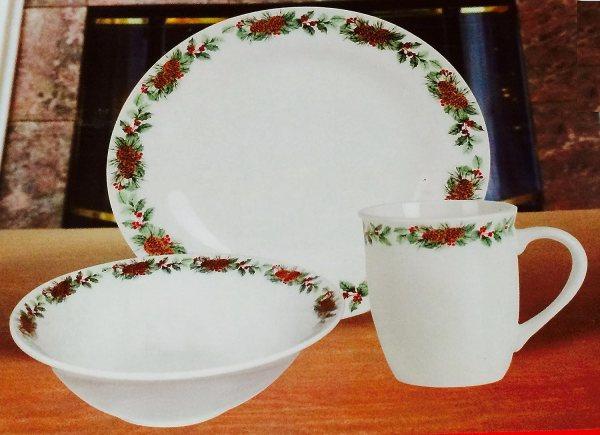 Pine Cone Christmas Dinnerware Sets Wikii