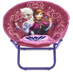 Saucer Chair For Kids Banquet Covers Walmart Disney Frozen Elsa Anna Seat Toddler Decor