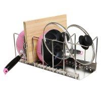 Pan Pot Lid Rack Holder Kitchen NEW Organizer Storage ...