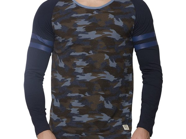 Alan Jones Camouflage Print Full Cotton T-Shirt