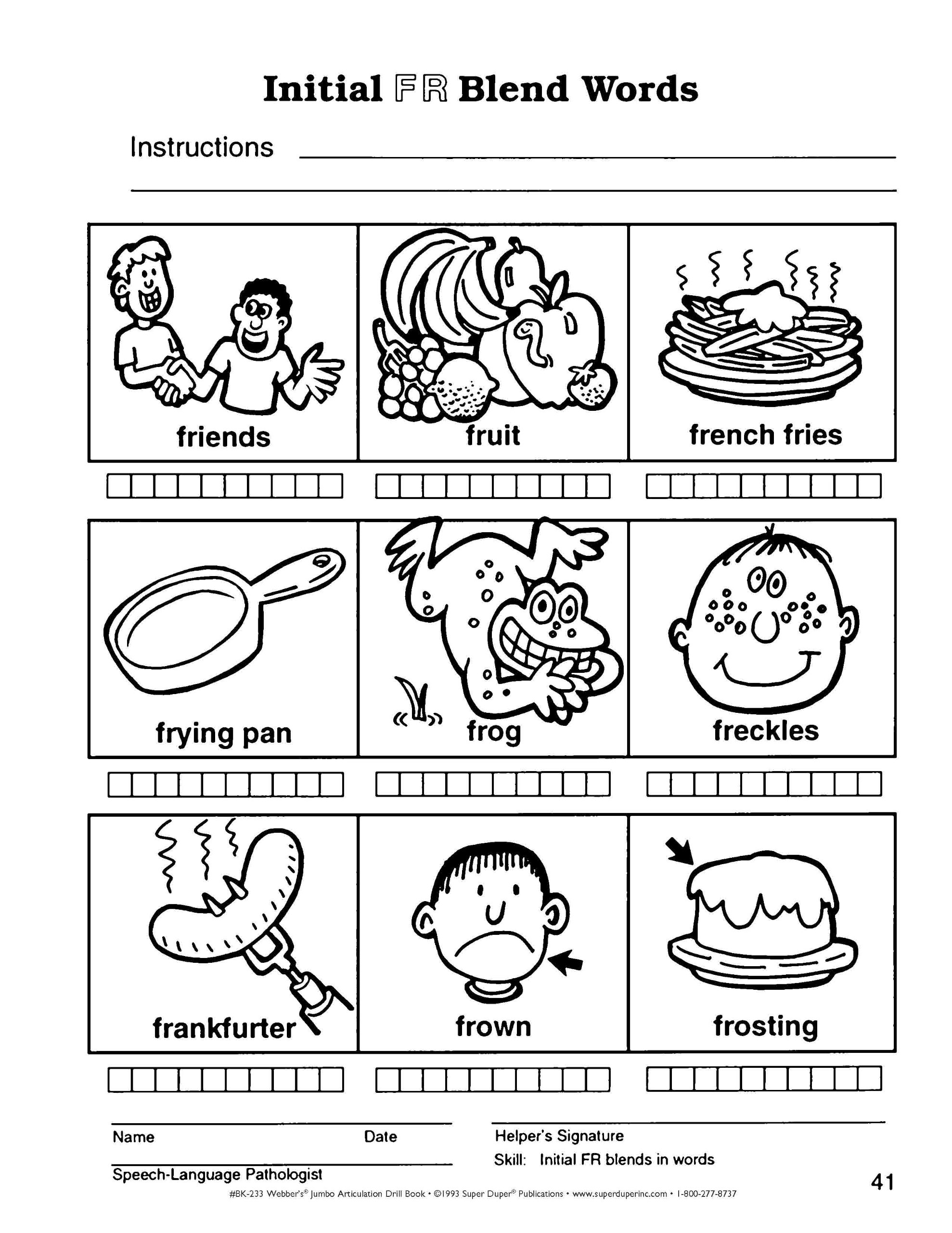 Printables Free Articulation Worksheets Messygracebook