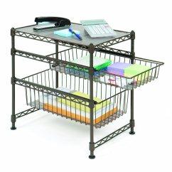 Kitchen Sliding Baskets Garden Windows Utility Organizer Storage Shelf Hold Tier Rack Steel Wire