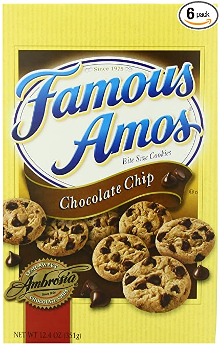 Keebler Famous Amos Chocolate Chip Cookies, 12.4-ounce (Pack of 6)
