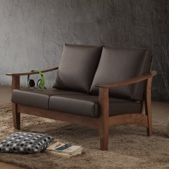 Durablend Sofa Living Room Sets Baxton Studio Philbert Mid Century Modern Walnut Wood And ...