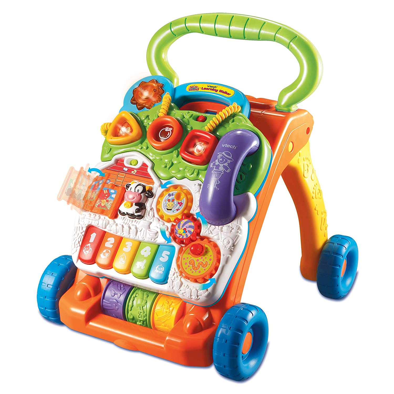 Vtech Sit To Stand Learning Musical Deluxe Piano Baby Activity Walker Nib New
