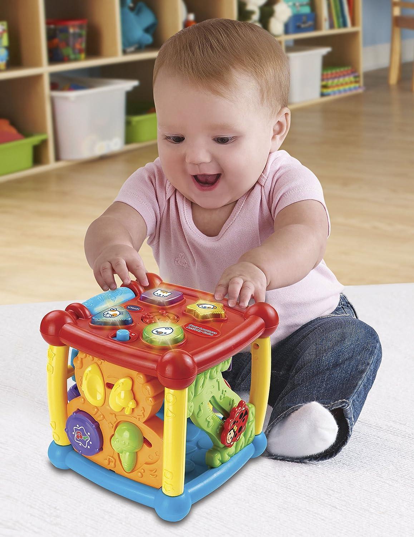 Vtech Baby Activity Center Cube Kids Learning Toys Animal Sounds Shapes Toddler