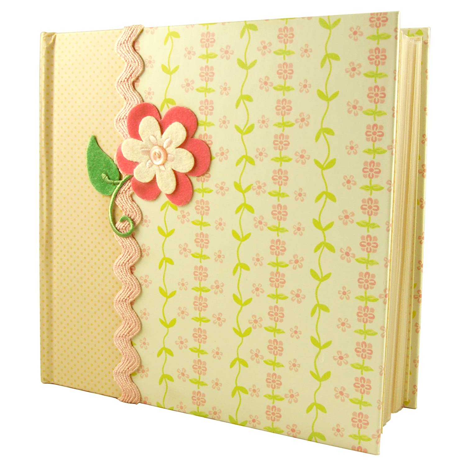C.R. Gibson Bound Photo Journal Album with CD Storage Pocket, LuLu by Anna Griffin