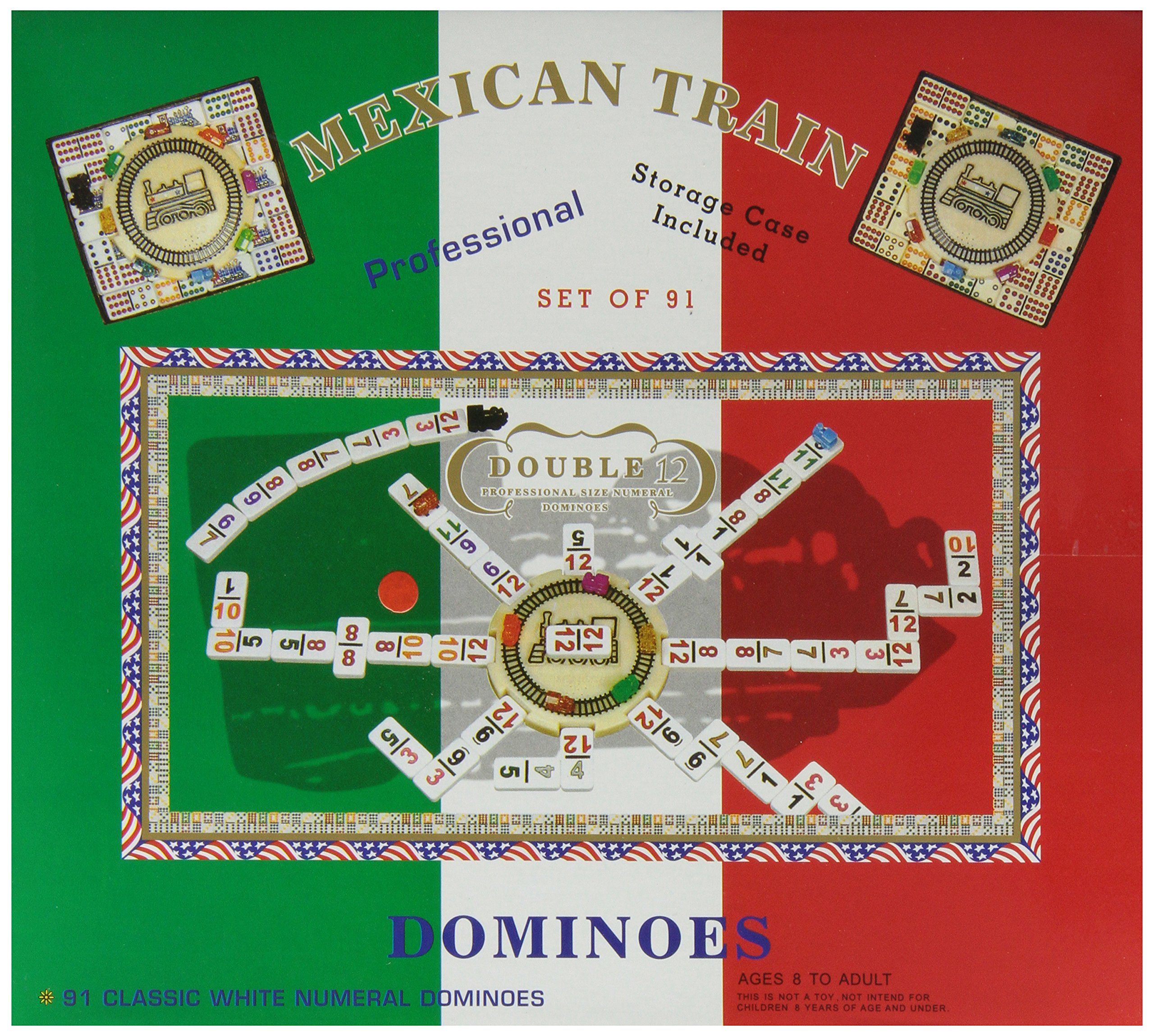 Double 12 Numeral Mexican Train Dominoes With 2 In 1 Hub