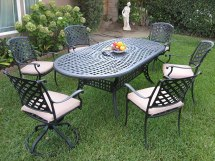 Cast Aluminum Outdoor Patio Furniture 7 Piece Dining Set
