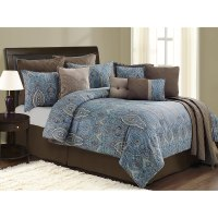Blue And Brown Bed Sets - interior decorating accessories