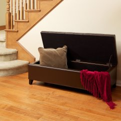 Mission Brown Leather Sofa How To Make Your Sleeper More Comfortable Best Selling Tufted Storage Ottoman