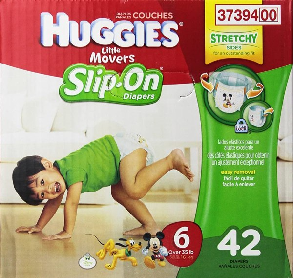 Huggies Little Movers Slip- Diapers Big Pack Size 6 42