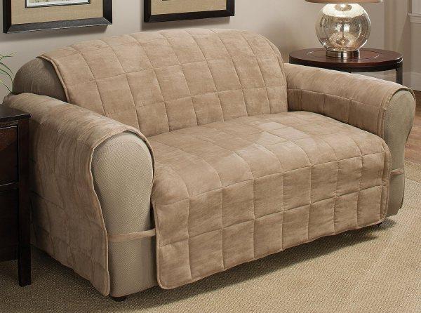 Ultimate Furniture Protector Pet Dog Slip Cover Sofa Chair Loveseat Natural Tan