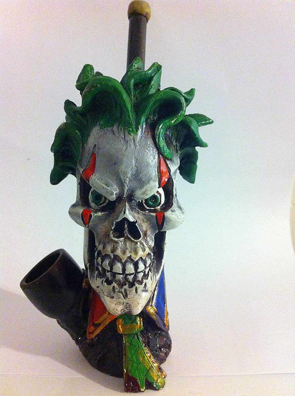Handmade Tobacco Pipe, Skeleton Clown Design