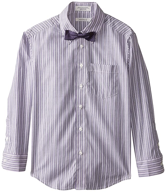 Perry Ellis Big Boys' Fashion Packaged Shirt, Sour Grape, 08