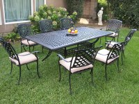Outdoor Cast Aluminum Patio Furniture 9 Piece Dining Set ...