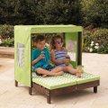 Folding chaise lounge beach kid children chair portable outdoor garden