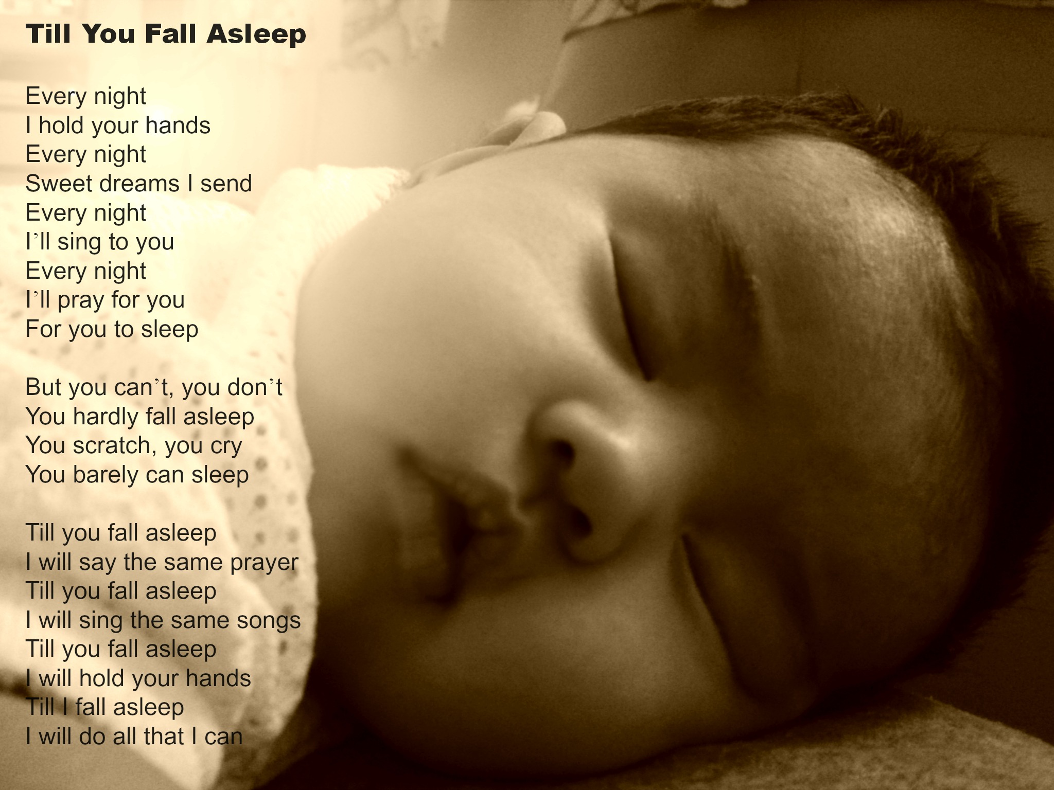Poem for my Eczema Baby - Till You Fall Asleep -
