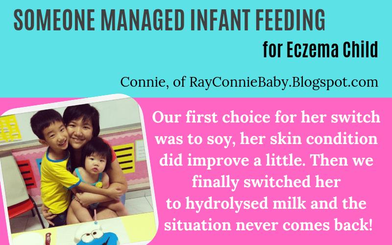 Someone has eczema children and managed infant feeding milk Connie RayConnieBaby.Blogspot.com Story on EczemaBlues