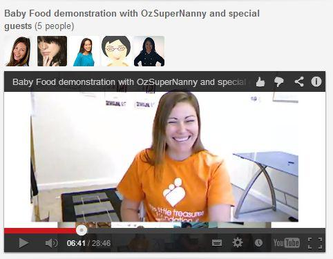 2nd Google Hangout with OzSuperNanny, Linda Black, Vivian Pei and Zurina Bryant