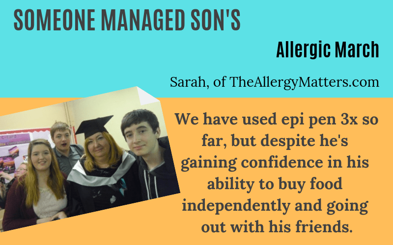 Someone manages son allergic march Sarah Chapman Story on EczemaBlues